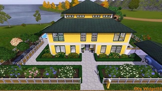 Gelbe Villa – Sims 3