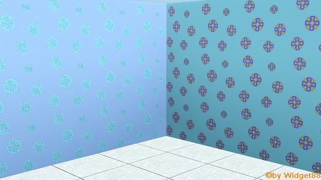 Kleine Schneeflocken – Muster Sims 3
